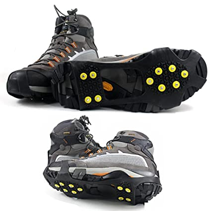 16714071d53c2b Kalevel 2pcs Ice Snow Cleats Traction Anti Slip Shoe Grip Cover Boot Rubber  Spikes Over Shoe Pro Walk Traction - Easy Slip On Ice Grippers Attachment  for ...