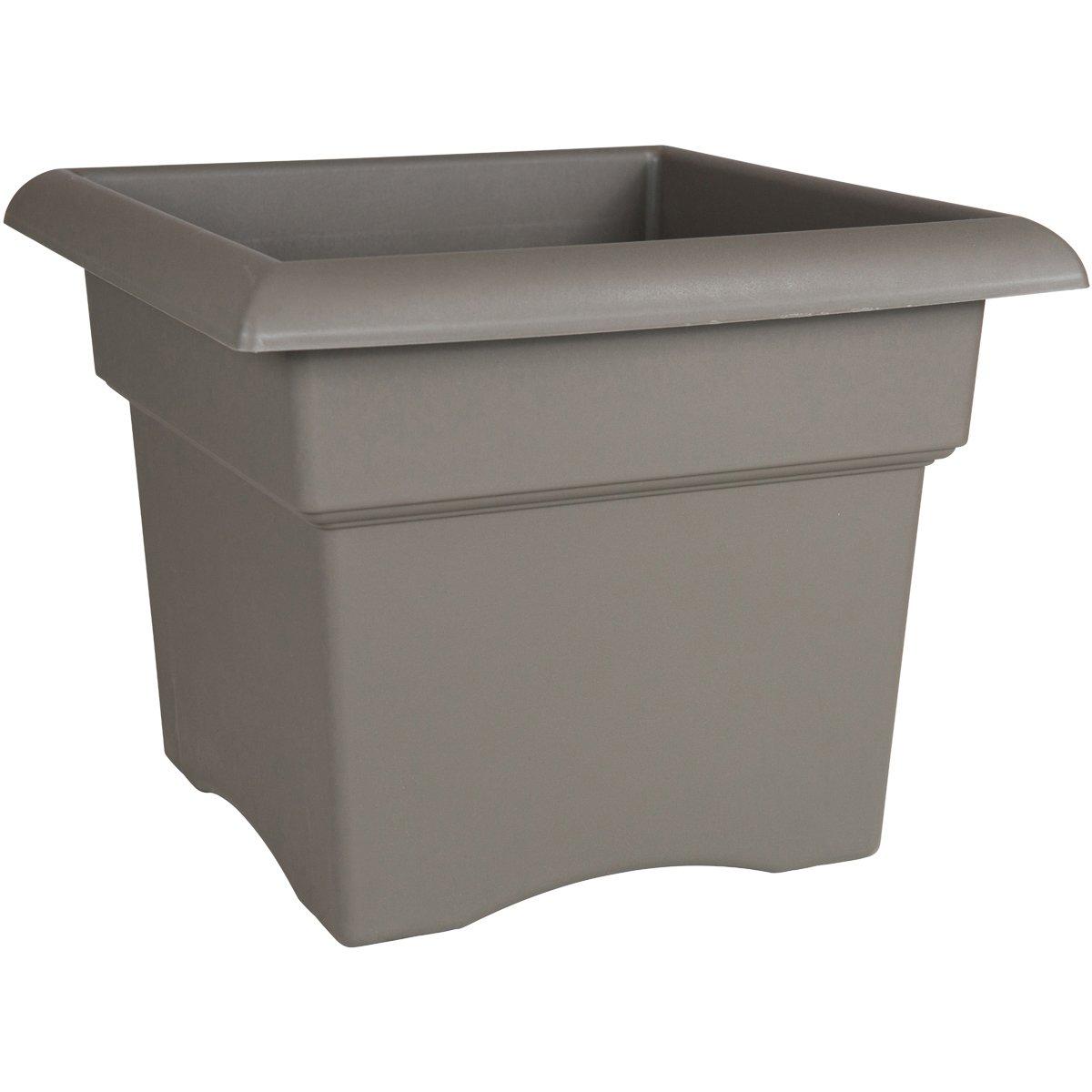 Bloem Fiskars 14 Inch Veranda 3 Gallon Box Planter, Color Cement (57714), 14-Inch