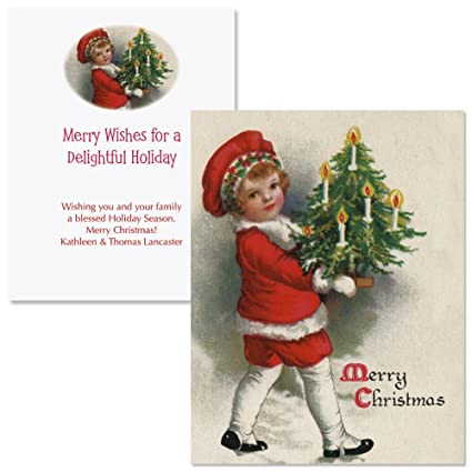 Amazon victorian christmas note card size personalized victorian christmas note card size personalized christmas cards set of 20 m4hsunfo