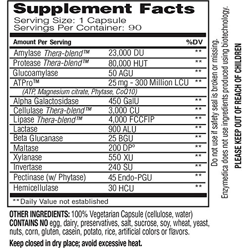 Enzymedica - Digest Gold with ATPro, High Potency Enzymes for Optimal Digestive Support, 90 Capsules (FFP) by Enzymedica (Image #2)