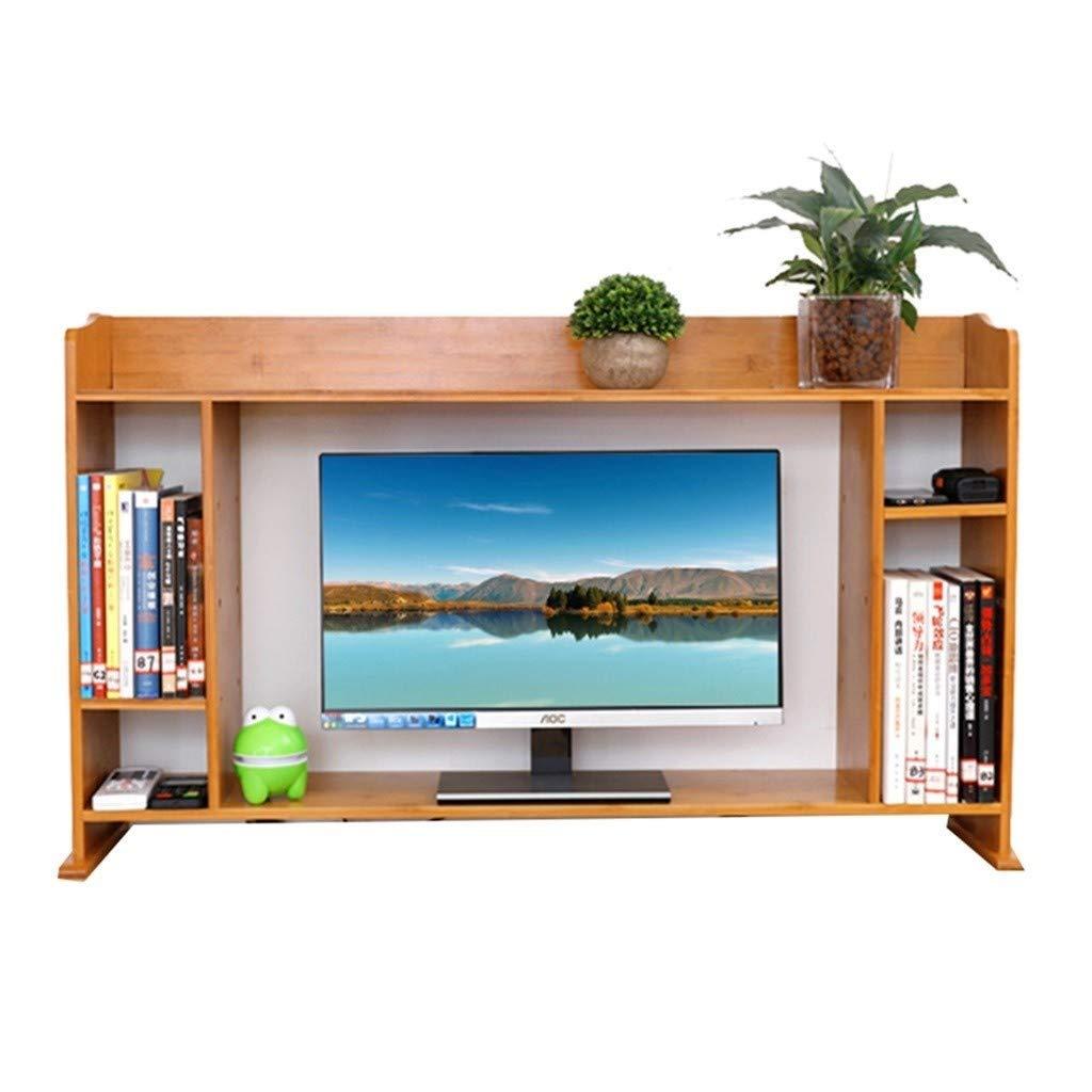 Book Racks Bookshelf Desktop Storage Shelf Shelf Organizer Bamboo Office Bookshelf Desk Storage Cabinet Bookends (Color : Brown, Size : 1001965cm) by Bookcases, Cabinets & Shelves