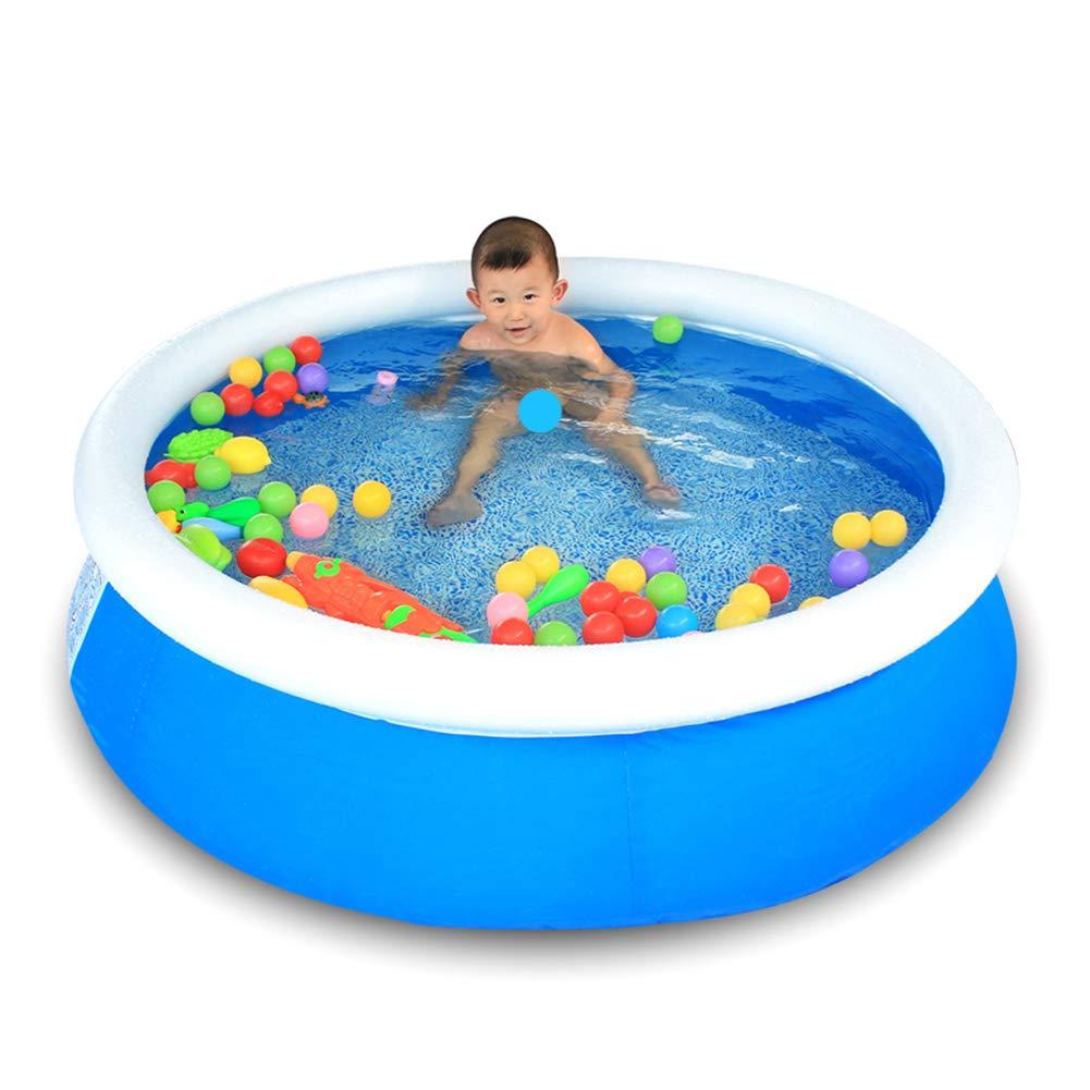 Aufblasbar Schwimmbad Schnell Einfach Einstellen mit Handbuch Luft Pumpe Tragbar Schwimmbad zum Familie, Kinder & Erwachsene zu Haben Draussen Wasser Spaß mit 50 Schwimmt Ball
