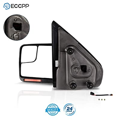 ECCPP Driver Left Door Mirror for 2004-2014 Ford F150 Rear View Mirror with Puddle Lamp Power Control Heated Manual Folding Reflector(Driver Side): Automotive