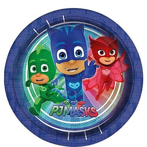PJ Masks Party Vajilla Kit de fiesta infantil de cumpleaños para 8, 16, 24, 32 - Globos y velas gratis: Amazon.es: Juguetes y juegos