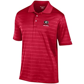 Champion Georgia Bulldogs UGA Mens Polo Textured Solid Polo ...