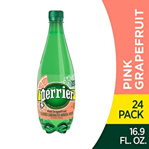 Perrier Pink Grapefruit Flavored Carbonated Mineral Water, 16.9 Fl Oz (24 Pack) Plastic Bottles