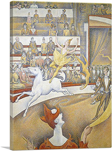 (ARTCANVAS The Circus 1891 Canvas Art Print by Georges Seurat- 40