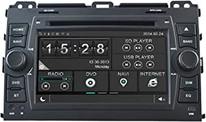 Witson Touch Screen Radio Car DVD GPS Sat Nav for Toyota Land Cruiser 120 Series Prado in Dash Navigation System, Navigator, Built in Bluetooth A2dp, Sd AUX USB Input Radio (Am/Fm) with Rds, 3g