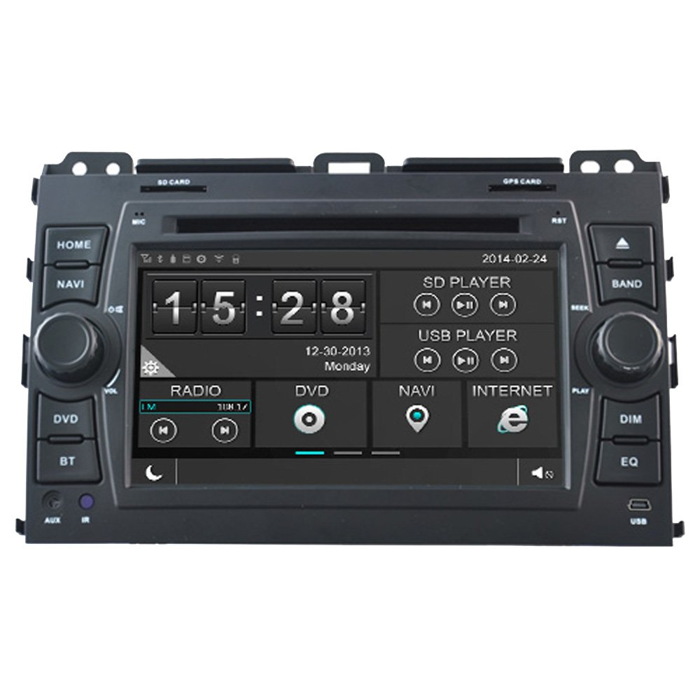 Amazon.com: Witson Touch Screen Radio Car DVD GPS Sat Nav for Toyota Land  Cruiser 120 Series Prado in Dash Navigation System, Navigator, Built in  Bluetooth ...