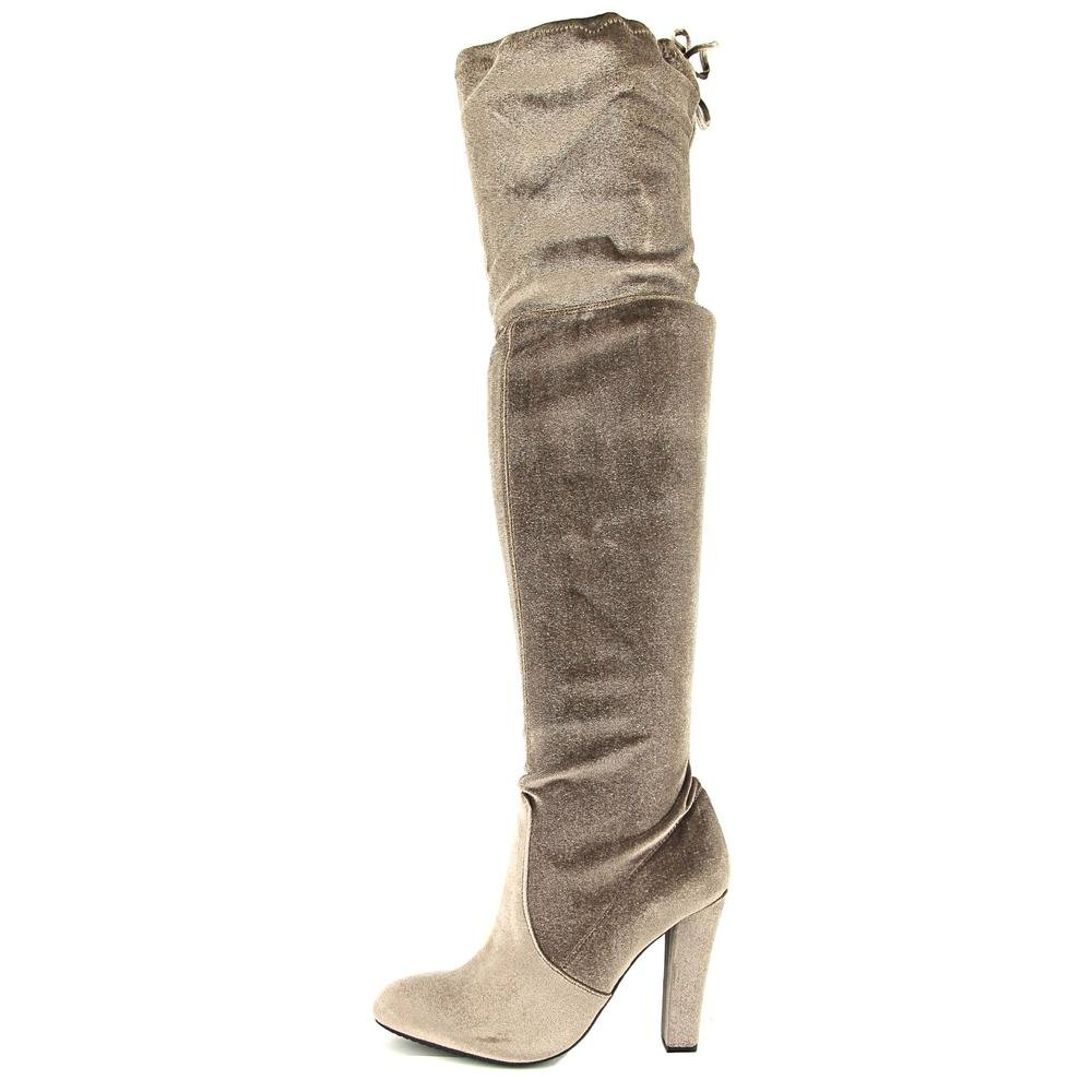 28927fa1a63c Amazon.com | Steve Madden Women's Gorgeous Velvet Knee-High Suede  Equestrian Boot | Over-the-Knee