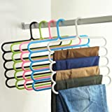 ON GATE Multipurpose Hanger For Shirts , Ties , Pants Space Savinghanger, Cupboard Organiser, Strong -set of 2 (color ma be vary)