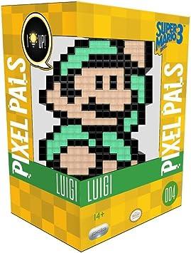 Todo para el streamer: PDP - Lampara de sobremesa Pixel Pals Luigi - Mario Bros (PS4), Multicolor