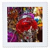 3dRose Danita Delimont - Lamps - UAE, Dubai, souk shopping area, lamps for sale - 18x18 inch quilt square (qs_277098_7)