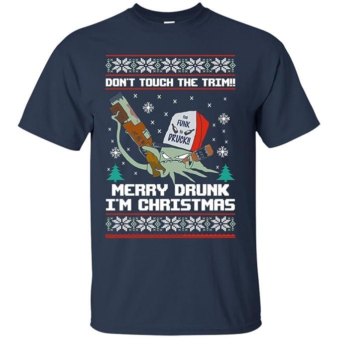 merry drunk im christmas t shirt navy unisex - Merry Drunk Im Christmas