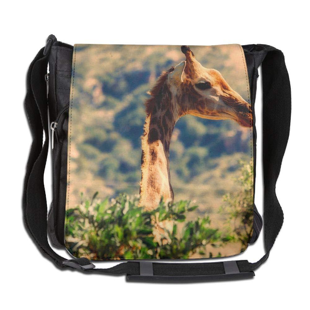 SARA NELL Messenger Bag,African Giraffe,Unisex Shoulder Backpack Cross-body Sling Bag