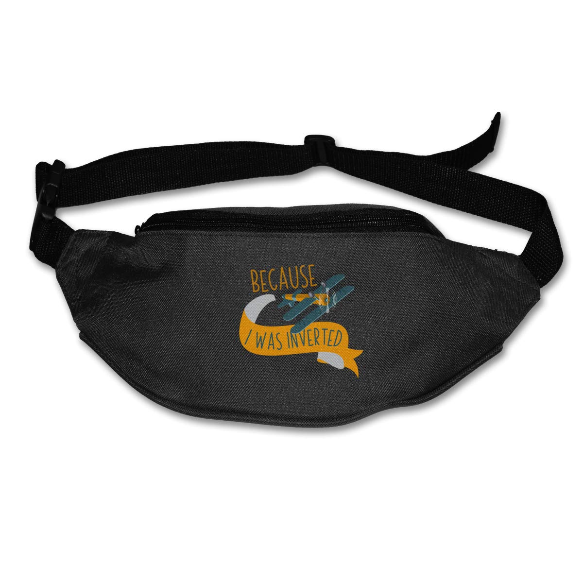 Because I Was Inverted Sport Waist Packs Fanny Pack Adjustable For Travel