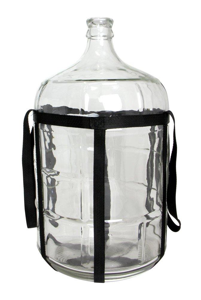 E.C. Kraus HOZQ8-1186 3 gal Glass Carboy, Clear