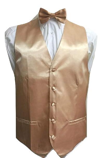 f9a812ea2cc9 L&L® Kid Children Boy Satin Waistcoat Vest + Matching Bowtie Set for Suit  Wedding (