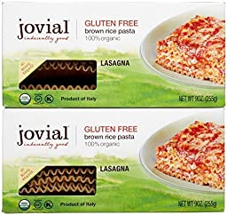 Jovial Gluten Free Brown Rice Pasta - Lasagna - 9 oz - 2 pk