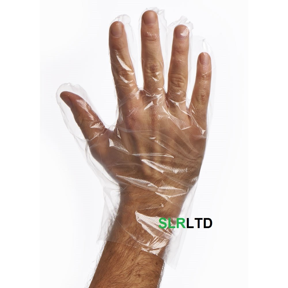 100 x DISPOSABLE POLYTHENE GLOVES - Catering, DIY, Cleaning, Hair Dye etc - FREE DELIVERY HK TRADING