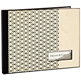 Hallmark Wood Panel and Geometric Print Guest Book Guest Books