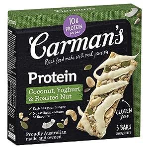 Carman's Gourmet Protein Bar Coconut, Yoghurt & Roasted Nut, 5-Pack (200g)