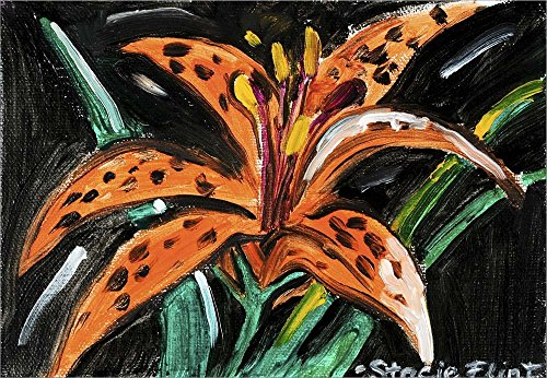 Tiger Lily by Stacie Flint Laminated Art Print, 15 x 10 inches