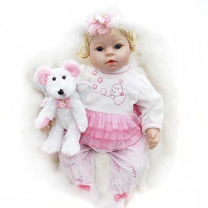 Amazon Com Lifelike Reborn Girls Toddlers Soft Silicone Baby Dolls