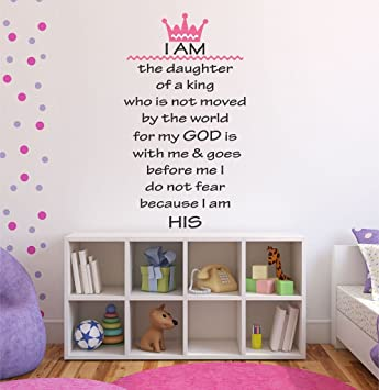 Amazoncom I Am The Daughter Of A King Girls Religious Nursery