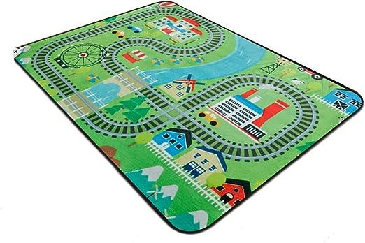Alfombra Infantil Niños para Niño Cuarto De Jugar Guardería Sala Habitación Antideslizante Mapa De La Calle Jugar Estera JIAJUAN Zona Alfombras (Color : C, Size : 100x150cm): Amazon.es: Hogar