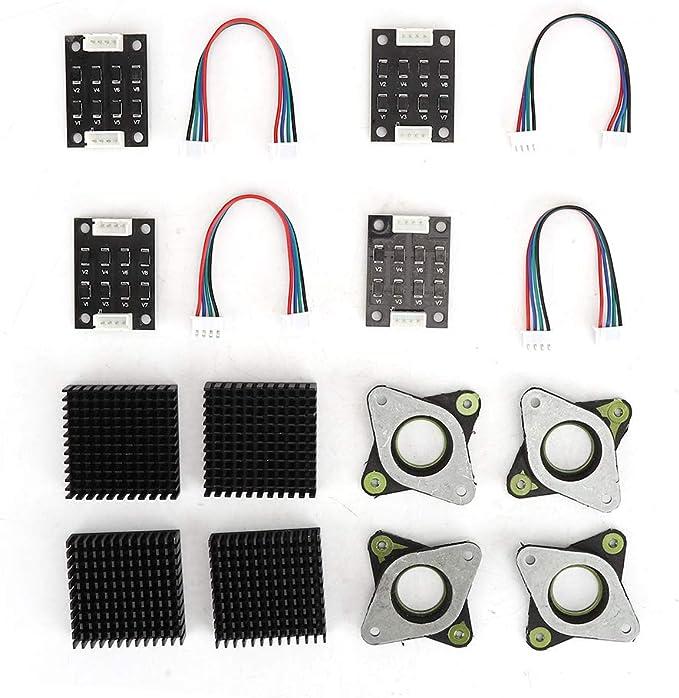 Juego de amortiguadores de vibraciones de disipadores de calor, 4 disipadores de calor/amortiguadores de vibraciones/desmagnetizador/cable de conexión, motor paso a paso NEMA17, accesorios de impresor: Amazon.es: Electrónica