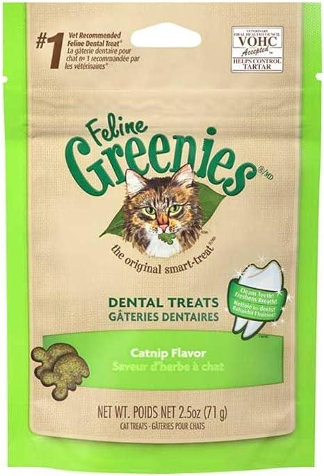 Amazon Com Feline Greenies Dental Treats Catnip Flavor 1 56lbs