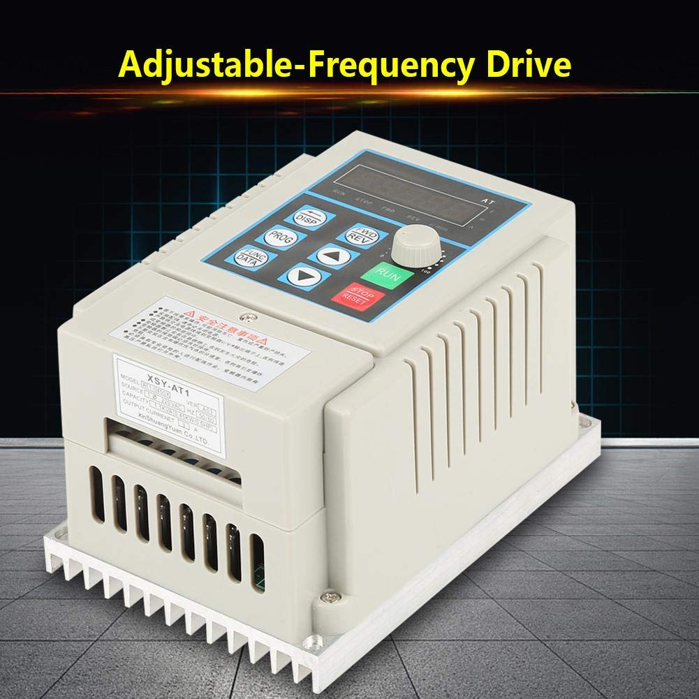 Variable Frequency Drive AC 220V Single-Phase VFD Professional Inverter Speed Controller for 3Phase 2.2kW AC Motor