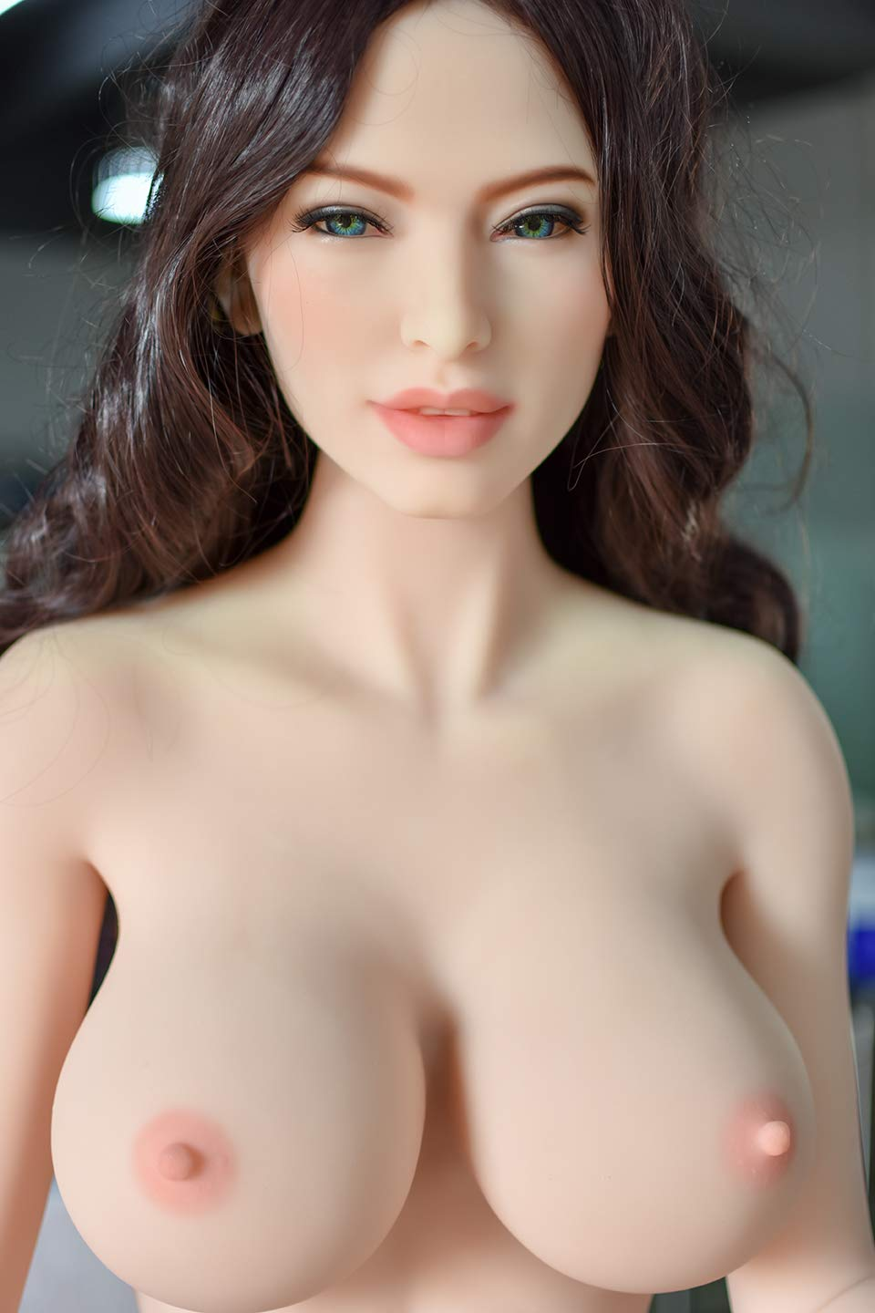 Blowjob Oral Sex Doll Head with m16 Connector Real Doll Heads Adult Sex Toy-Natural Skin,Wig Include