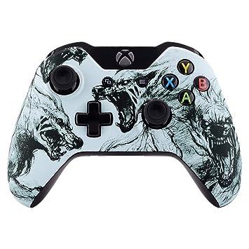 eXtremeRate Carcasa Mando Xbox One Standard Accesorios Protectora Suave al Tacto Placa Frontal Funda Delantera Kit de reemplazo Cubierta Shell para ...