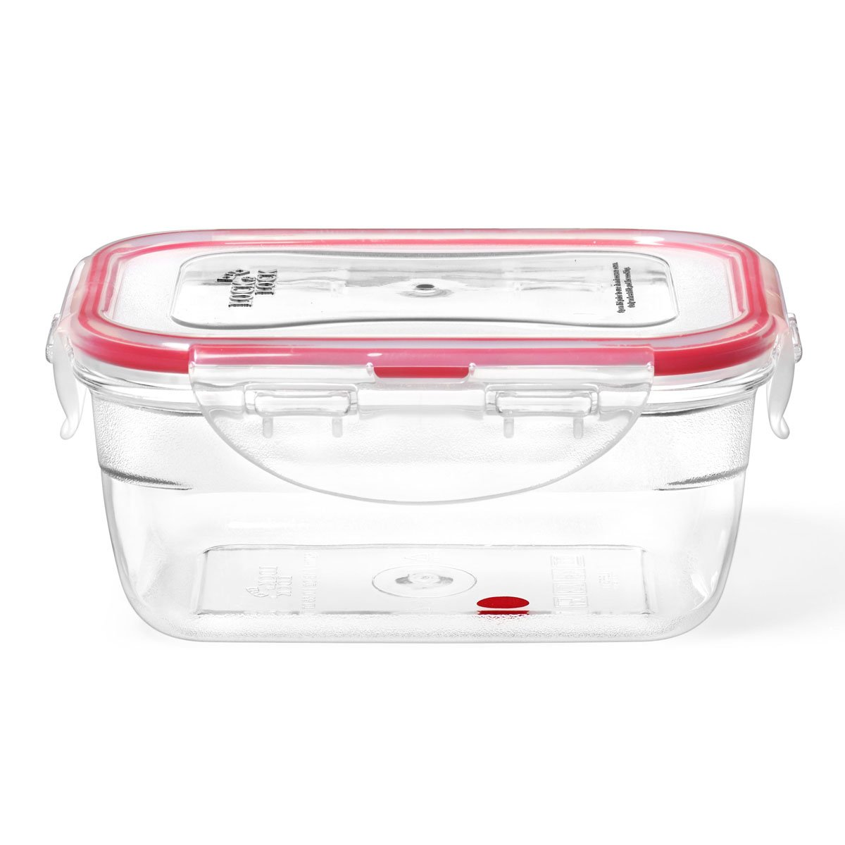 Lock and Lock by Starfrit Krystal 094404 1L Rectangular Plastic Container 094404-006-0000