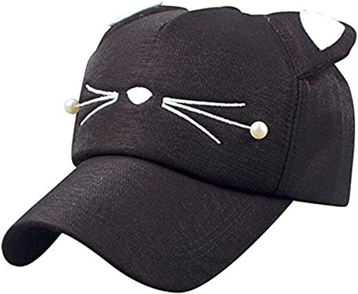 Amazon Com Wendywu Cartoon Baseball Cap Adjustable Cat Ears Cap