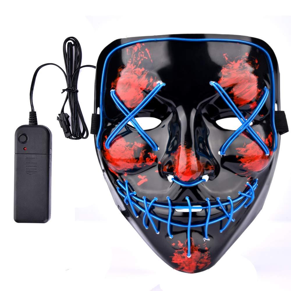 Amazon.com: Qhome Divertidas máscaras de Halloween LED ...