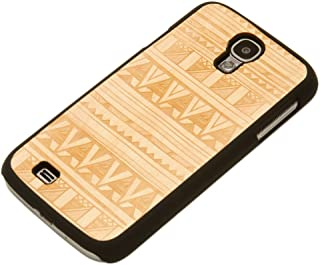product image for CARVED Matte Black Engraved Maple Wood Case for Samsung Galaxy S4 - Tribal (S4-BC1R-E-TRBL)
