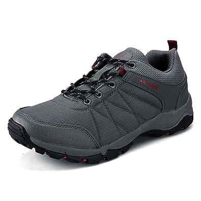 UBFen Herren Sportschuhe Trekking Wanderhalbschuhe Sneakers Outdoorschuhe Wanderschuhe Turnschuhe Casual Schuhe Atmungsaktives Mesh Reiseschuhe EU 43 C Grau wCXtVH