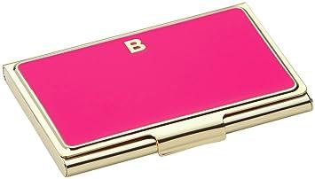 Amazon kate spade new york b initial business card holder kate spade new york b initial business card holder pink colourmoves