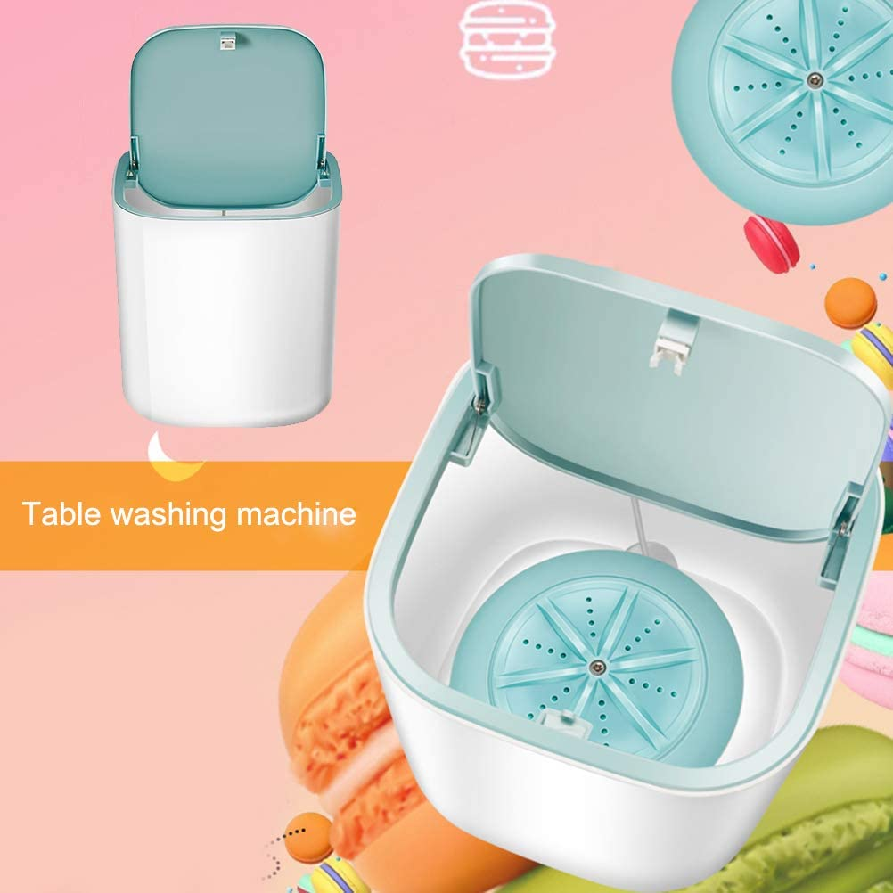 sous-v/êtements Mini machine /à laver portable alimentation USB pour caravane et camping bleu mini machine /à laver portable Turbo pour v/êtements de b/éb/é