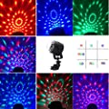 USB Powered Disco Ball Party Lights, iYonch Sound Activated Crystal Magic RGB led Stage lighting for DJ Party Karaoke Xmas Wedding Club Car Outdoor Anywhere,with Remote Control,Braket,Suction Cup