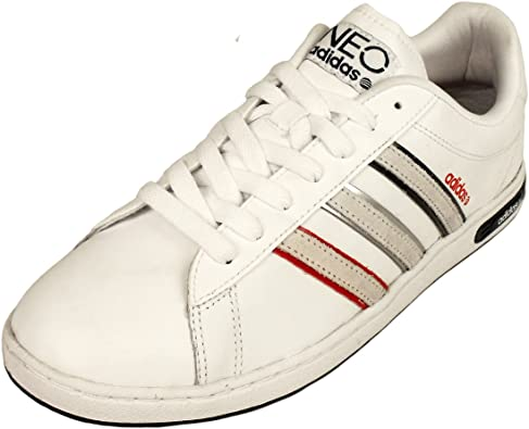 adidas Mens Derby II Neo Label Trainers White Leather Trainer Retro Shoes New