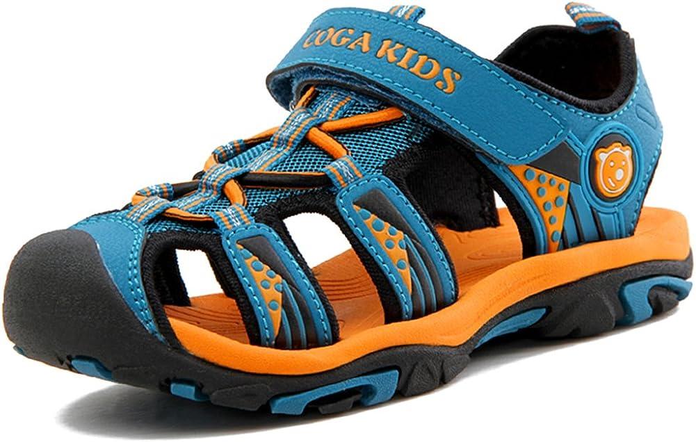 Sandalen Jungen Geschlossen Klettverschluss Sommer Kinder Schuhe M/ädchen Atmungsaktiv Strand Trekking Wandern Unisex