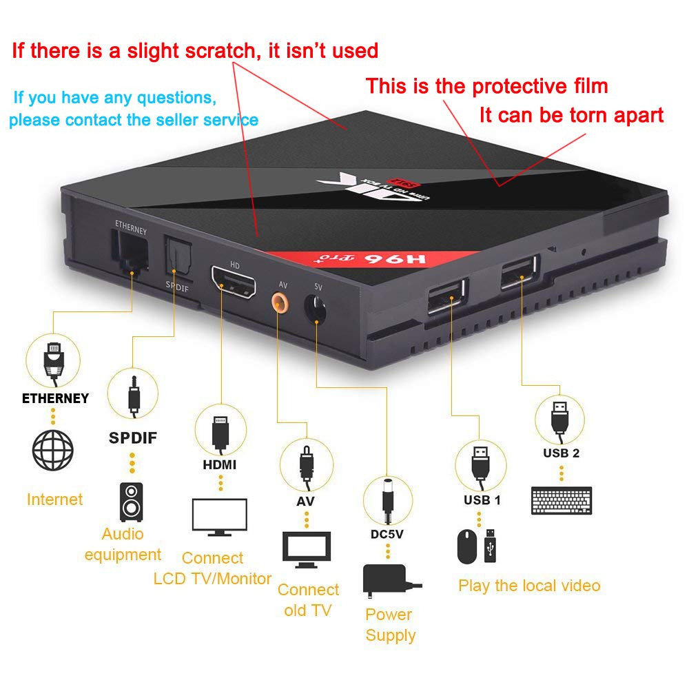 Wechip H96 Pro Plus Android 71 Tv Box 3gb Ram 32gb Rom Amlogic 912 S912 Octacore 64 Bits Octo Core Smart Support Real 4k Dual Band Wifi 24ghz 5ghz Bluetooth 41