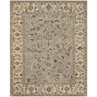 Safavieh Heritage Collection HG865A Handcrafted Traditional Oriental Beige and Grey Wool Area Rug (8 x 10)