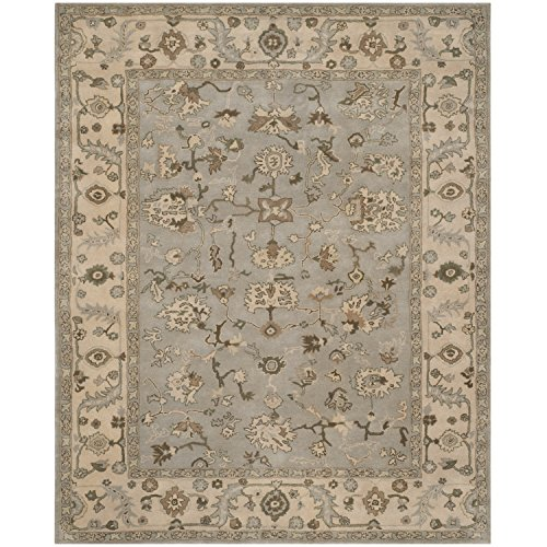 Safavieh Heritage Collection HG865A Handcrafted Traditional Oriental Beige and Grey Wool Area Rug (9' x 12') ()