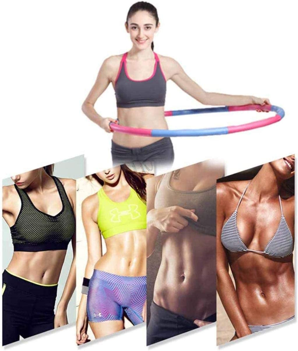 QUANOVO Die gewichteten Schaumstoff gepolstert Fitness-/Übungs-Hula Hoop Folding Fitness-Welle Weighted perfekte Weight Loss /& Fat burining Exercise Equipment