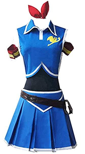 Amazon.com: vicwin-one Anime Lucy Heartfilia vestido azul ...